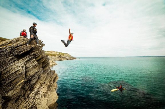 Coasteering in Newquay, Cornwall