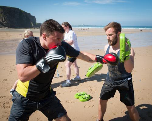 RAF Beach Fitness at Watergate Bay
