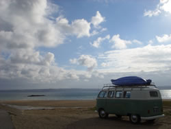 Campers in Cornwall Splitty