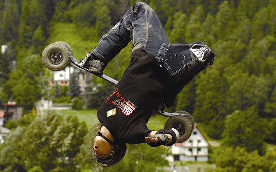 Mountain boarder Tom Kirkman goes large - image courtesy of Fat Face
