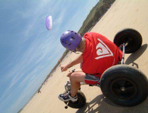 Kite buggy & power kiting Gwithian Cornwall