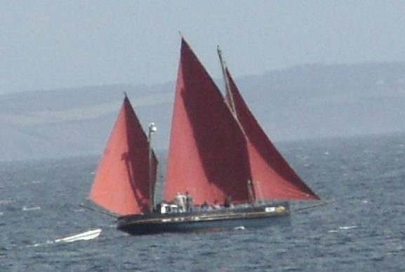 Cornish Lugger sailing fishing boat