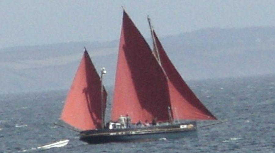 Cornish Luggers Parade in Looe
