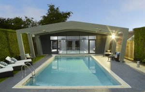 Hotel pool in Cornwall