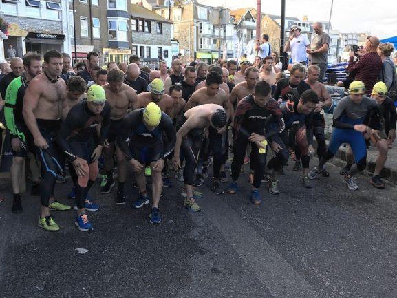 Runners in st ives biathlon