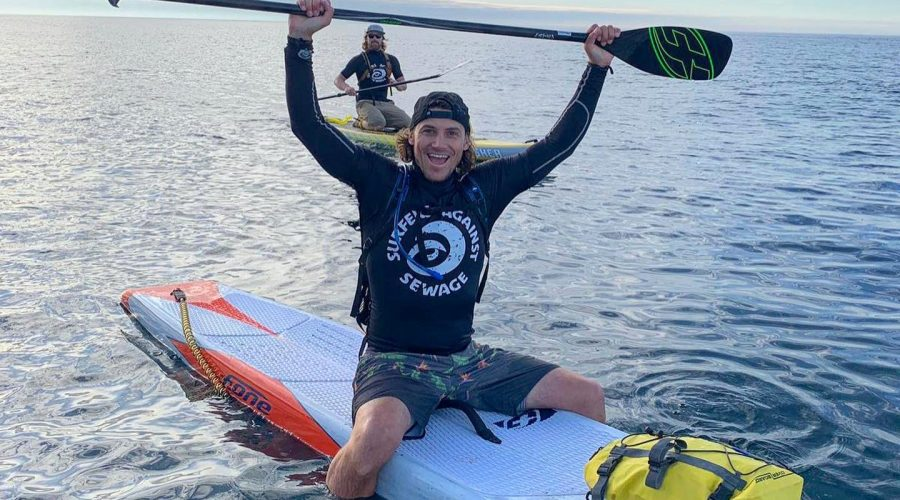 Surfers Make Epic Paddle Against Plastic Pollution