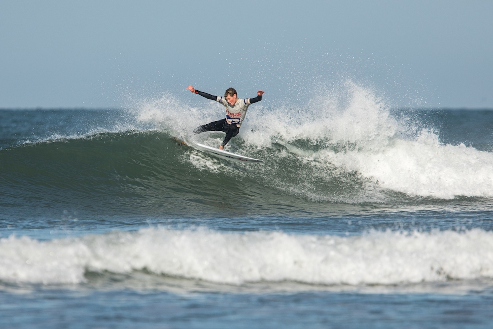 Surfer in action at Jesus Surf Classic 2019